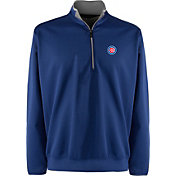 Antigua Men's Chicago Cubs Leader Royal Quarter-Zip Pullover