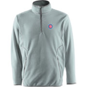 Antigua Men's Chicago Cubs Quarter-Zip Silver Ice Pullover