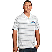 Antigua Men's 2016 World Series Champions Chicago Cubs White Striped Deluxe Performance Polo