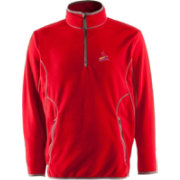 Antigua Men's St. Louis Cardinals Quarter-Zip Red Ice Pullover
