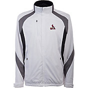 Antigua Men's St. Louis Cardinals Tempest White Full-Zip Jacket