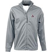 Antigua Men's St. Louis Cardinals Full-Zip Silver Golf Jacket