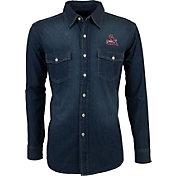 Antigua Men's St. Louis Cardinals Chambray Button-Up Long Sleeve Shirt