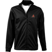 Antigua Men's Arizona Diamondbacks Full-Zip Black Golf Jacket