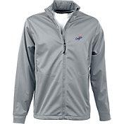 Antigua Men's Los Angeles Dodgers Full-Zip Silver Golf Jacket