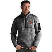Antigua Men's San Francisco Giants Black Fortune Half-Zip Pullover
