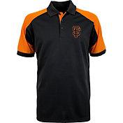 Antigua Men's San Francisco Giants Century Black/Orange Polo