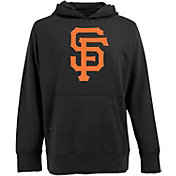 Antigua Men's San Francisco Giants Black Signature Applique Hoodie