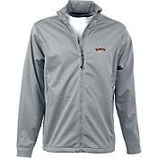 Antigua Men's San Francisco Giants Full-Zip Silver Golf Jacket