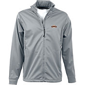 Antigua Men's San Francisco Giants Full-Zip Silver Golf Jacket