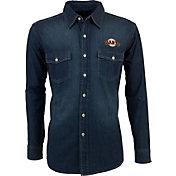 Antigua Men's San Francisco Giants Chambray Button-Up Long Sleeve Shirt