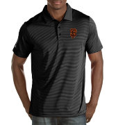 Antigua Men's San Francisco Giants Black Quest Performance Polo