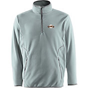 Antigua Men's San Francisco Giants Quarter-Zip Silver Ice Pullover