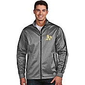 Antigua Men's Oakland Athletics Grey Golf Jacket