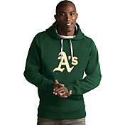 Antigua Men's Oakland Athletics Green Victory Pullover