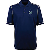 Antigua Men's Seattle Mariners Icon Navy Performance Polo