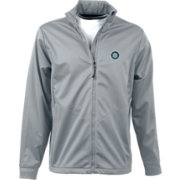 Antigua Men's Seattle Mariners Full-Zip Silver Golf Jacket