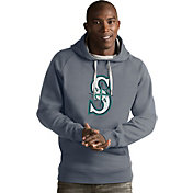 Antigua Men's Seattle Mariners Grey Victory Pullover