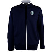 Antigua Men's Seattle Mariners Leader Navy Full-Zip Jacket