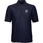 Antigua Men's Seattle Mariners Illusion Navy Striped Performance Polo