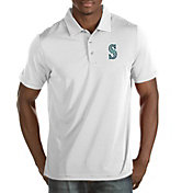 Antigua Men's Seattle Mariners White Quest Performance Polo