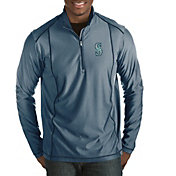 Antigua Men's Seattle Mariners Navy Tempo Quarter-Zip Pullover