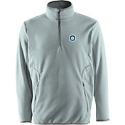 Antigua Men's Seattle Mariners Quarter-Zip Silver Ice Pullover