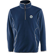 Antigua Men's New York Mets Quarter-Zip Royal Ice Pullover