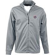 Antigua Men's New York Mets Full-Zip Silver Golf Jacket