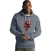 Antigua Men's New York Mets Grey Victory Pullover