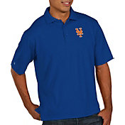 Antigua Men's New York Mets Xtra-Lite Pique Royal Performance Polo