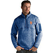 Antigua Men's New York Mets Royal Fortune Half-Zip Pullover