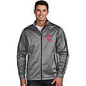 Antigua Men's Cleveland Indians Grey Golf Jacket