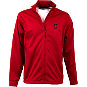 Antigua Men's Cleveland Indians Full-Zip Red Golf Jacket