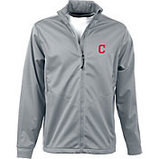 Antigua Men's Cleveland Indians Full-Zip Silver Golf Jacket