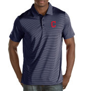 Antigua Men's Cleveland Indians Navy Quest Performance Polo