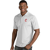Antigua Men's Cleveland Indians White Inspire Performance Polo