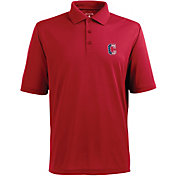 Antigua Men's Cleveland Indians Xtra-Lite Patriotic Logo Red Pique Performance Polo