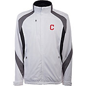 Antigua Men's Cleveland Indians Tempest White Full-Zip Jacket