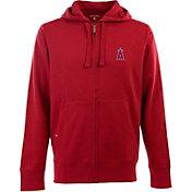 Antigua Men's Los Angeles Angels Red Full-Zip Fleece Hoodie