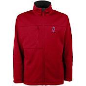 Antigua Men's Los Angeles Angels Red Traverse Fleece Jacket
