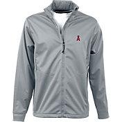 Antigua Men's Los Angeles Angels Full-Zip Silver Golf Jacket