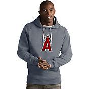 Antigua Men's Los Angeles Angels Grey Victory Pullover