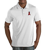 Antigua Men's Los Angeles Angels White Quest Performance Polo