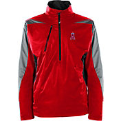 Antigua Men's Los Angeles Angels Pullover Red Discover Jacket