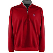 Antigua Men's Los Angeles Angels Leader Red Quarter-Zip Pullover