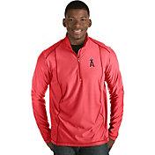 Antigua Men's Los Angeles Angels Red Tempo Quarter-Zip Pullover