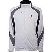 Antigua Men's Los Angeles Angels Tempest White Full-Zip Jacket
