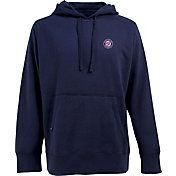 Antigua Men's Washington Nationals Navy Signature Hoodie