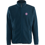 Antigua Men's Washington Nationals Full-Zip Navy Ice Jacket